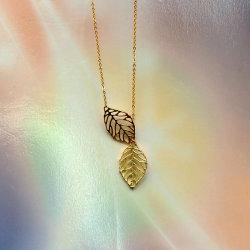 مجوهرات ذهبية بألواح ذهبية مجوهرات مجوهرات أوراق قابلة للتعديل عقد عادي / بندول