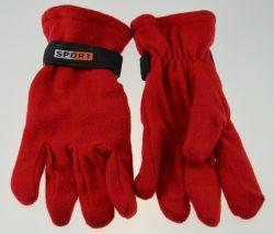 BSCI polaire rouge classique femmes Gants chauds d'hiver