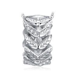 925 de echte Zilveren Buitensporige Juwelen van de Giften van Kerstmis van de Tegenhangers van het Blad van Tegenhangers