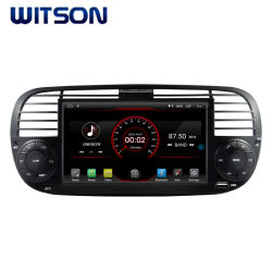 De vierling-Kern van Witson Androïde van de Auto DVD Speler 10 Van verschillende media voor FIAT 500 de Radio van het Voertuig