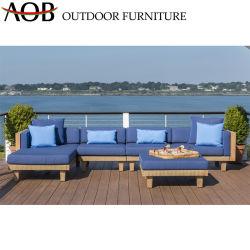 Il sofà esterno del terrazzo del patio dell'hotel del rattan del PE del giardino sezionale moderno imposta la mobilia del salotto