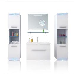 Banheiro Lavatório vaidades do Gabinete do espelho com bacia em cerâmica HS-E1901