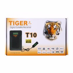 Tiger T10 del receptor de TV vía satélite a 1080p de DVB-S/S2 al aire libre Receptor Digital FTA Detector de señal compatible con USB WiFi, Youtube