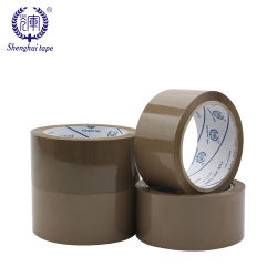 BOPP cinta adhesiva de color marrón de buena calidad precio de fábrica