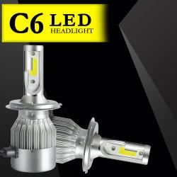 2PCS LED H4 H7 H11 H1 H3 Hb4 H8 Hb3 H27 9005 9006 Auto faro 72W 8000LM haz de luz de alta, baja de la luz de los automóviles de la lámpara de 6000K