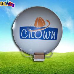 Globo de helio inflables globos blancos con la impresión de centro muebles