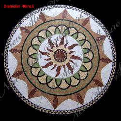 Medalhão marítimas em mármore Mosaicos para decoração