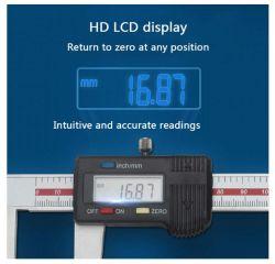 Paquímetro eletrônico digital tela LCD Paquímetro com polegadas/Conversão Métrica Superfície Prato paquímetro digital para medir Semi-Soft espessura de chapa