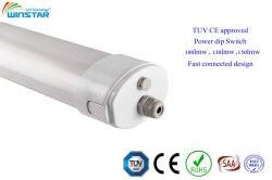 산업 IP66 Ik10 IP69K, 음식 공장 점화 LED 세 배 증거 승인되는 선형 빛 150LMW TUV 세륨
