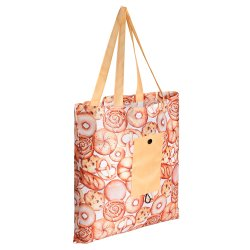 Индивидуальный логотип печати 600d полиэстер Оксфорд экологически безопасные складывания водонепроницаемые рекламные брелоки ручки сумки