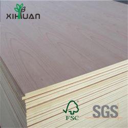 Cinzas de madeira natural/Oak/Red Beech folheado de madeira contraplacada comercial de mobiliário