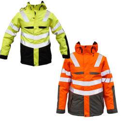 Custom мужская колпачковая зимний водонепроницаемый Hi Vis/видимость/светоотражающие Ветровку Outerwear желтый или оранжевый/зеленый флуоресцентный изотермическое транспортное средство безопасности чехол для строительства