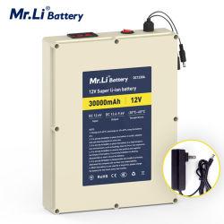 Scheda di protezione del pacchetto della batteria della batteria 18650 della carica della macchina fotografica dello ione del litio del sig. Li Rechargeable LED Battery 12V 30A con il caricatore 5A