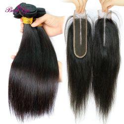 Forma parte central la pieza de cabello, parte libre del cierre de la base de seda cabello brasileño el cierre de encaje