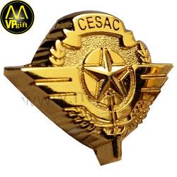 Placa de nombre de alfiler de metal personalizados con logotipo impreso de cúpula