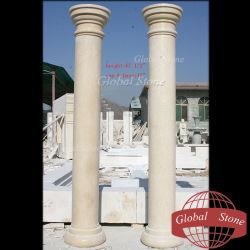 Декоративный сад из природного камня мрамора колонке GSCL-101)