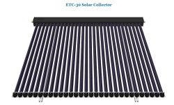 Le tube à vide permanent libre collecteur solaire renversé 30 Tubes avec SRCC
