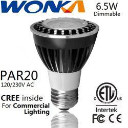 ETL 6.5W 디마블 LED PAR20 스팟 조명