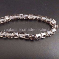 宝石類の作成のための新式のクリスタルグラスの立方体のビード