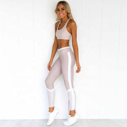 Activewear stellten Großhandelsdrucken-Sport Büstenhalter und Legging für Frauen ein