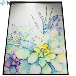 L'impression de plantes succulentes personnalisé chinois l'art abstrait de la peinture moderne (MR-YB6-2056E)