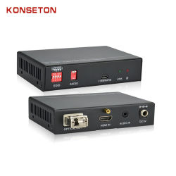 Kst-Hduf T/R de audio HDMI/transmisor de fibra óptica
