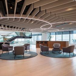Dekorative Kunststofffaser (PET) Acoustic Board für die Schallabsorption im Büro