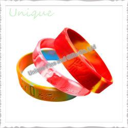 На заводе пользовательские моды мака смешанные цвета загорается резиновую ленту светлый силиконовый браслет для рекламных подарков