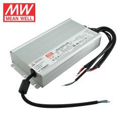 Meanwell HLG-600H-48B IP67 600W 48V LED 가벼운 높 만 온실 점화 어업 램프 일정한 전압 일정한 현재 LED 운전사