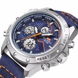 Reloj de pulsera Reloj digital de los hombres de cuero reloj deportivo reloj reloj para venta al por mayor
