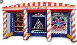 Carnaval 3 em 1 jogo de basquetebol do estande deito insufláveis Jogo para venda