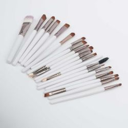 20 pcs brosses de l'oeil de l'oeil les brosses de maquillage fard Ombre nez de l'Éponge Eyeliner PINCEAU À LÈVRES Pinceaux cosmétiques kit