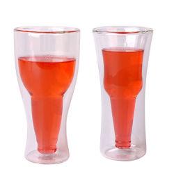 Doppel-wandiges 200ml 400ml Borosilicat-Glas-Wein-Cup