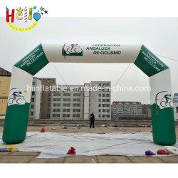 A impressão de publicidade personalizada corrida insuflável Arco de acabamento