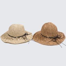 Cappello flessibile del Crochet di disegno delle donne della paglia respirabile vuota Hand-Knitted della spiaggia