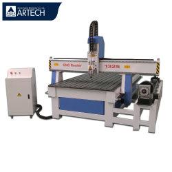 4 Mittellinie Woodworking CNC 1325 Router Engraving Machine Price für Wooden Production Processing
