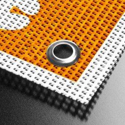 Revestido de PVC Lona Malha revestidos de tecido de poliéster para impressão