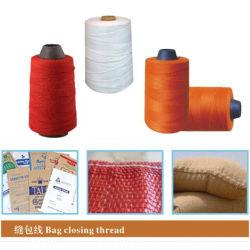 20s/6 20/6 100% полиэстер Bag закрытие швейных поток необработанных белого цвета и Вся обшивочная ткань