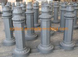 Exterior de aluminio fundido farola de la Base de piezas