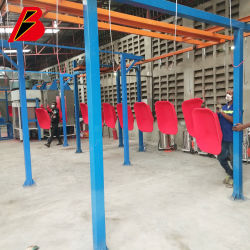 Ligne de revêtement d'alimentation cabine de peinture stand de cuisson à haute température 250 degré Four Ligne de peinture industrielle de projet