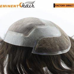 Lace Front fait sur mesure la plus naturelle des cheveux humains Les hommes de remplacement de cheveux