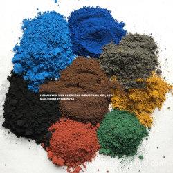 Rosso/nero/verde/colore giallo/polvere blu del pigmento dell'ossido di ferro per pavimentare