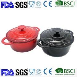 Cazuela de hierro fundido de 2.7L/utensilios de hierro fundido BSCI LFGB APROBADO POR LA FDA