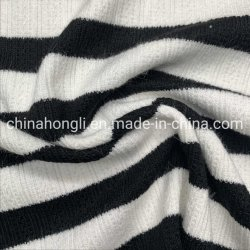 Hacci rayón de 70%13%Poliéster de Nylon 12%3%2%Spandex Yarn-Dye de lana Tejido con mano suave sensación