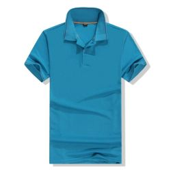 明白な綿のポロのTシャツは人のTシャツの衣類を卸し売りする