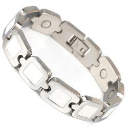 Bio- braccialetto d'acciaio magnetico con finitura superficia Polished