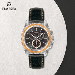 Новый стиль красочных из натуральной кожи из нержавеющей стали кварцевые часы для мужская72227