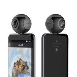 360 cucitura senza giunte in tempo reale doppia della videocamera di Vr dell'obiettivo di grado 3k per il micro video/foto di tempo reale 360 del connettore del USB del telefono Android che si riparte su Facebook
