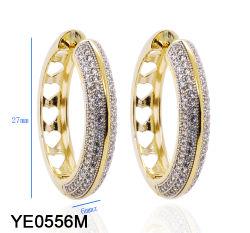 Новая модель дизайнер ювелирных изделий 925 серебристый или латунных мода долго большой дуги CZ серьги для девочек
