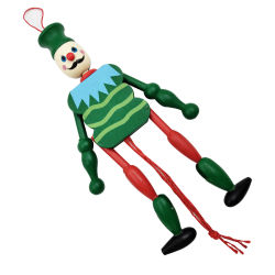 Drôle de clown Poupée en bois de couleur